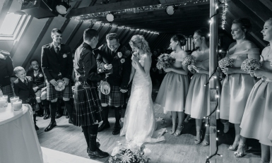 The Ceremony by Edinburgh Wedding Photographer Ewan Mathers