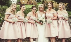 Bridesmaids by Edinburgh Wedding Photographer Ewan Mathers