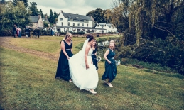 Bridal Party by Edinburgh Wedding Photographer Ewan Mathers