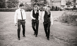 The Ushers by Edinburgh Wedding Photographer Ewan Mathers