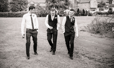The Ushers by Edinburgh Wedding Photographer Ewan Mathers