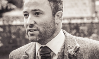 Groom by Edinburgh Wedding Photographer Ewan Mathers