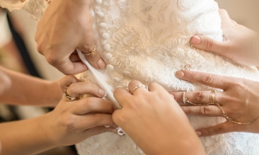 Wedding dress by Edinburgh Wedding Photographer Ewan Mathers