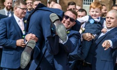 The best men by Edinburgh Wedding Photographer Ewan Mathers
