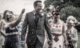 Confetti by Edinburgh Wedding Photographer Ewan Mathers
