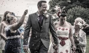 Confetti by Edinburgh Wedding Photographer Ewan Mathers