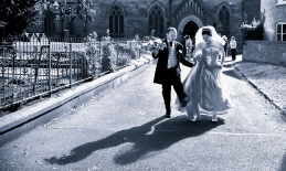 Bride and Groom by Edinburgh Wedding Photographer Ewan Mathers