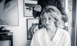 Bridal hair by Edinburgh Wedding Photographer Ewan Mathers