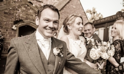 Confetti at the Church by Edinburgh Wedding Photographer Ewan Mathers
