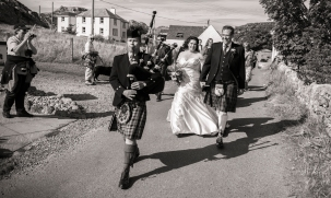 Bagpipes by Edinburgh Wedding Photographer Ewan Mathers