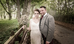 Bride and Groom by Highland Wedding Photographer Ewan Mathers