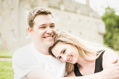 Engagement Photos at Cawdor Castle by Highland Wedding Photographer Ewan Mathers