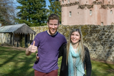 A Marriage Proposal at Craigievar Castle by Highland Wedding Photographer Ewan Mathers