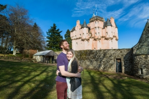 A Marriage Proposal at Craigievar Castle by Edinburgh Wedding Photographer Ewan Mathers