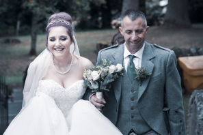 Arriving at Church by Edinburgh Wedding Photographer Ewan Mathers