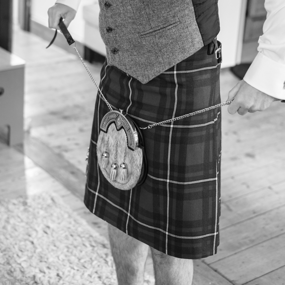 Kilt and Sporran by Edinburgh Wedding Photographer Ewan Mathers