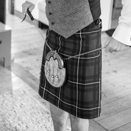 Kilt and Sporran by Highland Wedding Photographer Ewan Mathers