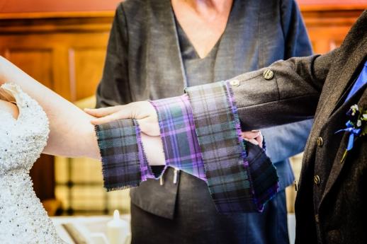 Tying the Knot by Edinburgh Wedding Photographer Ewan Mathers