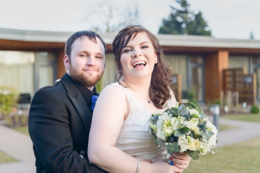 Bride and Groom by Inverness Wedding Photographer Ewan Mathers
