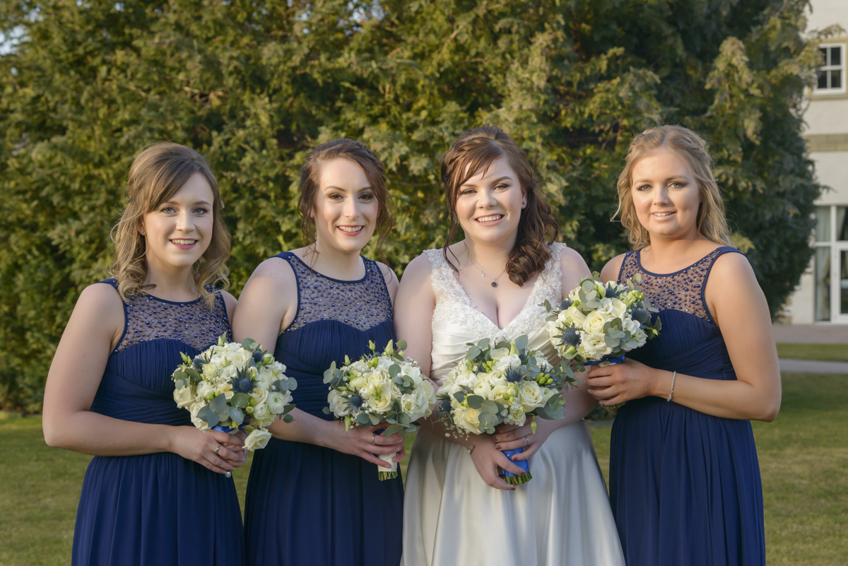 Bride and Bridesmaids by Edinburgh Wedding Photographer Ewan Mathers