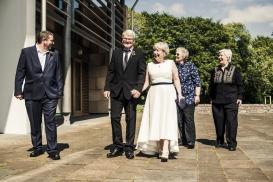 The Wedding Party by Edinburgh Wedding Photographer Ewan Mathers