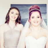 Bride and Bridesmaid by Wedding Photographer in Edinburgh - Ewan Mathers