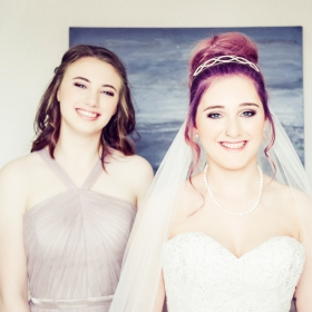 Bride and Bridesmaid by Wedding Photographer in Edinburgh - Ewan Mathers