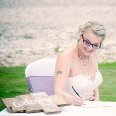 Signing the Register by Wedding Photographer in Edinburgh - Ewan Mathers
