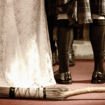 Jumping the Broom by Wedding Photographer in Edinburgh - Ewan Mathers