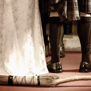 Jumping the Broom by Wedding Photographer in the Highlands of Scotland - Ewan Mathers