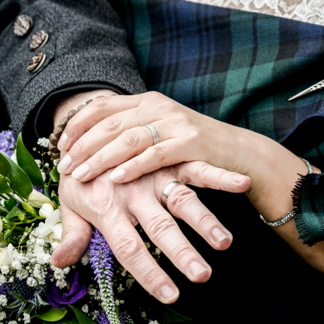 Wedding Rings by Wedding Photographer in Edinburgh - Ewan Mathers