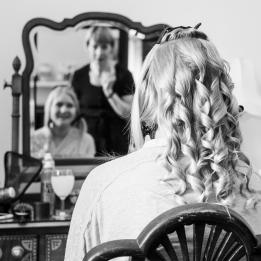 Bridal Hair by Wedding Photographer in Edinburgh - Ewan Mathers