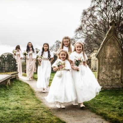 Bridal Party by Wedding Photographer in Edinburgh - Ewan Mathers