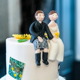 Wedding Cake by Wedding Photographer in Edinburgh - Ewan Mathers