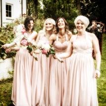 Bridesmaids by Wedding Photographer in Edinburgh - Ewan Mathers