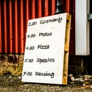 Wedding Sign by Wedding Photographer in Edinburgh - Ewan Mathers