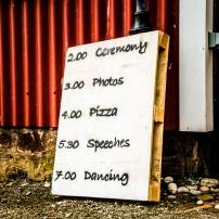 Wedding Sign by Wedding Photographer in the Highlands of Scotland - Ewan Mathers