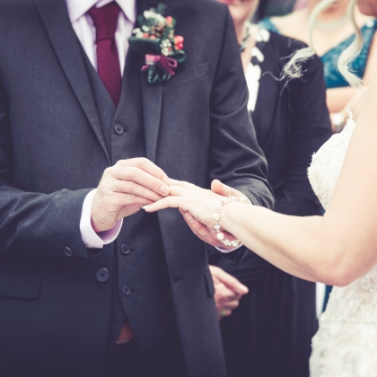 Third Finger Left Hand by Wedding Photographer in Edinburgh - Ewan Mathers