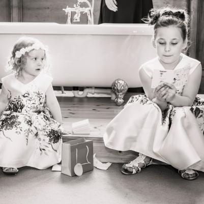 Flower Girls by Wedding Photographer in Edinburgh - Ewan Mathers