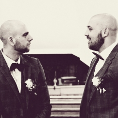 Best Man and Groom by Wedding Photographer in Edinburgh - Ewan Mathers
