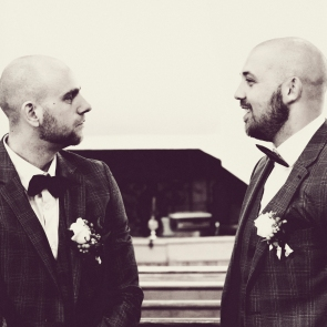 Best Man and Groom by Wedding Photographer in the Highlands of Scotland - Ewan Mathers