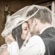 Bride and Groom by Wedding Photographer in Edinburgh - Ewan Mathers